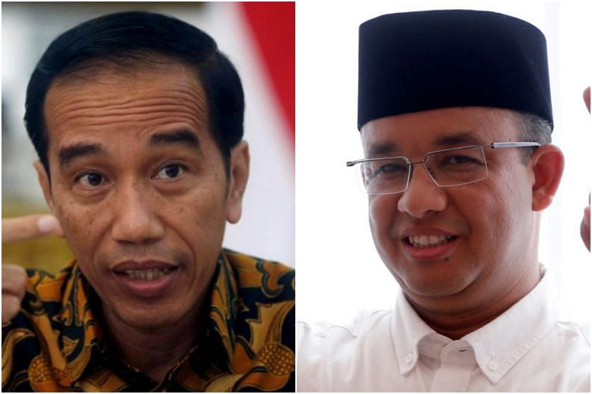 """Governor Anies Baswedan (right) and President Joko """"Jokowi"""" Widodo were close friends during the 2014 presidential election campaign until the former was dismissed as the education minister in 2016."""