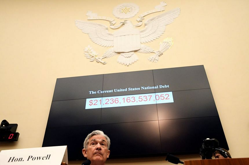 Federal Reserve chairman Jerome Powell testifies before a House Financial Services Committee hearing.