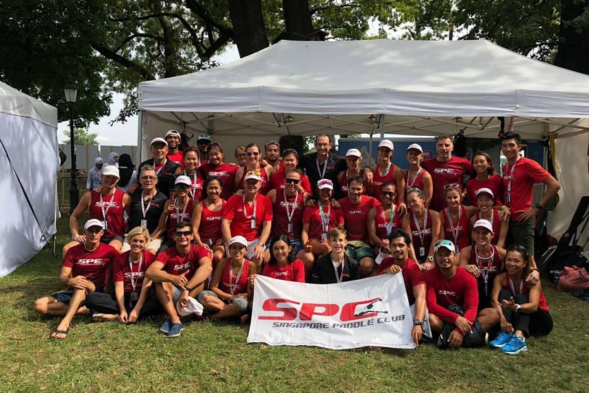 The Singapore Paddle Club's dragon boaters.