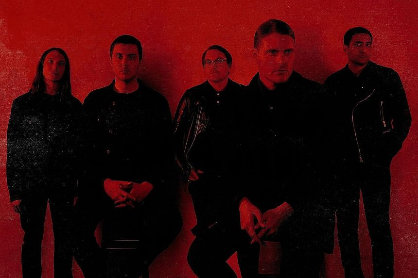 American band Deafheaven are made up of (from left) Chris Johnson, Daniel Tracy, Kerry McCoy, George Clarke and Shiv Mehra.