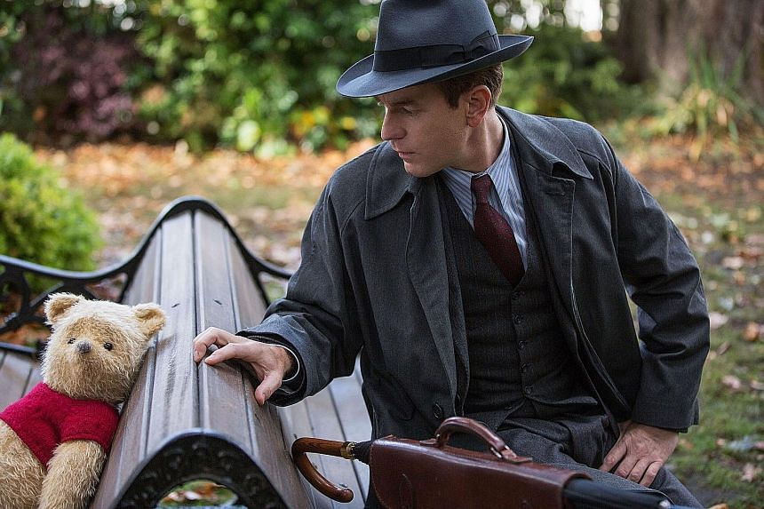 Ewan McGregor plays the grown-up Christopher Robin, who has no time to remember his childhood spent with toys such as Winnie The Pooh.