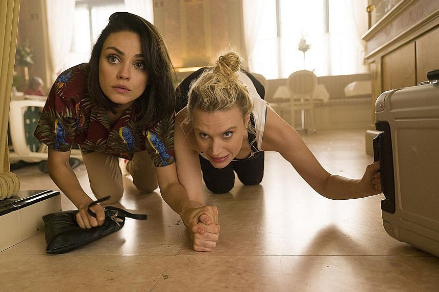 Mila Kunis (far left) and Kate McKinnon star in The Spy Who Dumped Me.