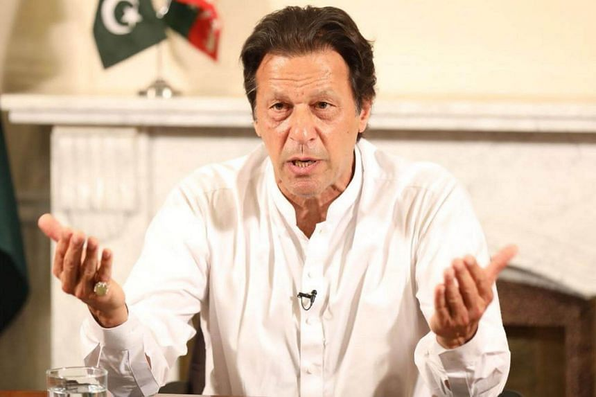 Imran Khan speaking during a televised address in Islamabad, Pakistan, on July 26, 2018.