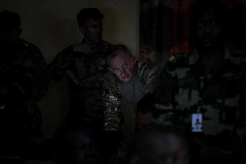 Bernie Potts, a Navy lieutenant commander, in Agadez, Niger, in April. A Defence Department official said that Nigerien forces are considered to be improving to the point where they may soon not need American help.