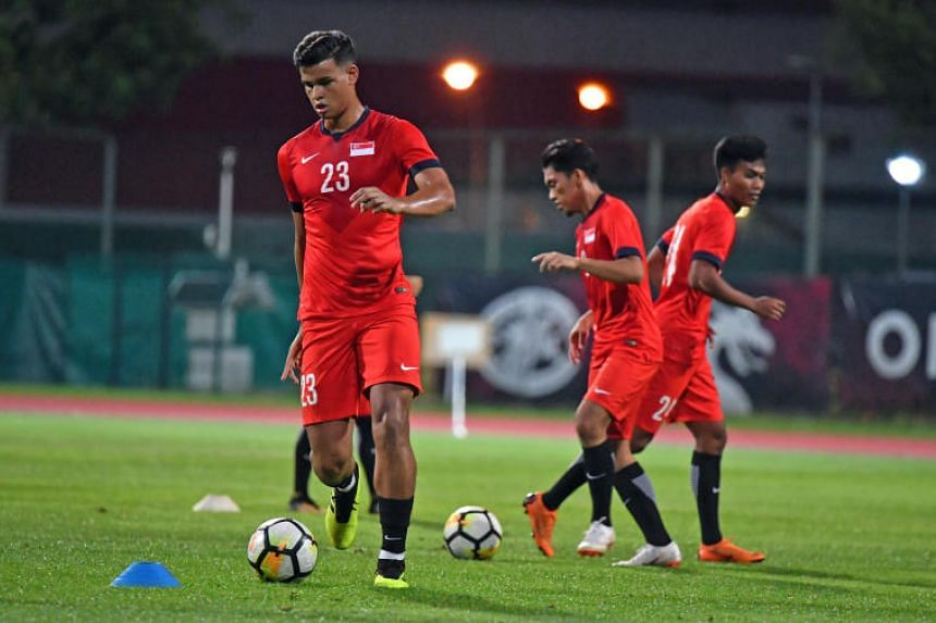 National football team ace Irfan Fandi (left) has been asked to return to Portuguese side Sporting Braga for another trial, after a successful two-week stint with the club's Under-23 team last month.