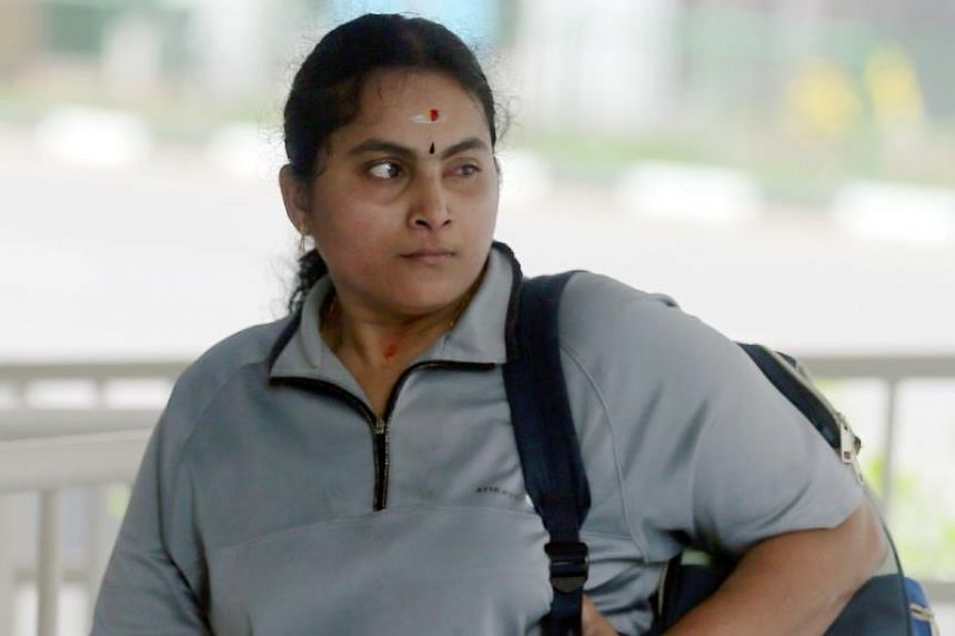 Kavitha Palanisamy (above) had pleaded guilty to causing grievous hurt to her mother-in-law.