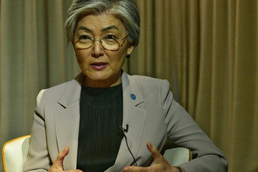 South Korea Foreign Minister Kang Kyung-wha is in Singapore for Asean-related meetings.