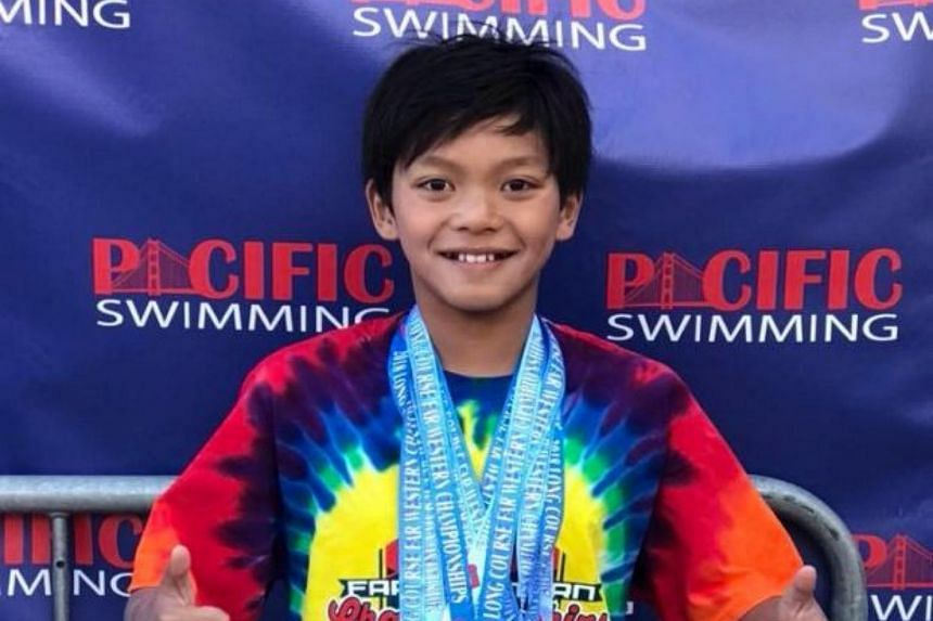 """Clark Kent Apuada, a Filipino-American, beat the 1:10.48 record set by the retired competitive swimmer for the category of """"Boys 10 and under""""."""