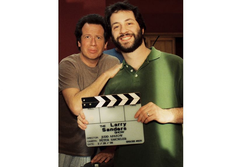 Judd Apatow (left) went on to work for Garry Shandling (far left) on The Larry Sanders Show after interviewing Shandling for his high-school radio programme as a teenager.