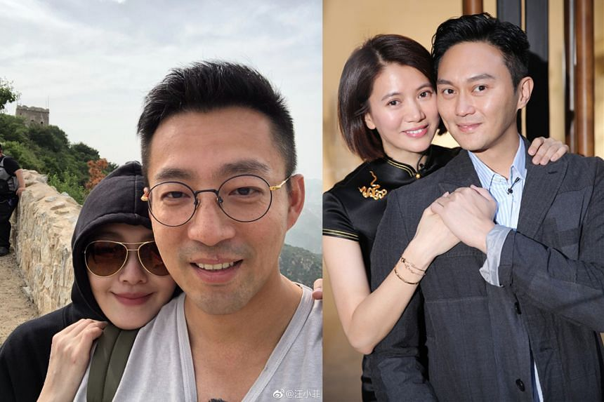 Taiwanese actress Barbie Hsu of Meteor Garden (2001) fame and her husband, Chinese restaurant tycoon heir Wang Xiaofei (both above, left). Hong Kong celebrity couple Julian Cheung and Anita Yuen (both above, right)