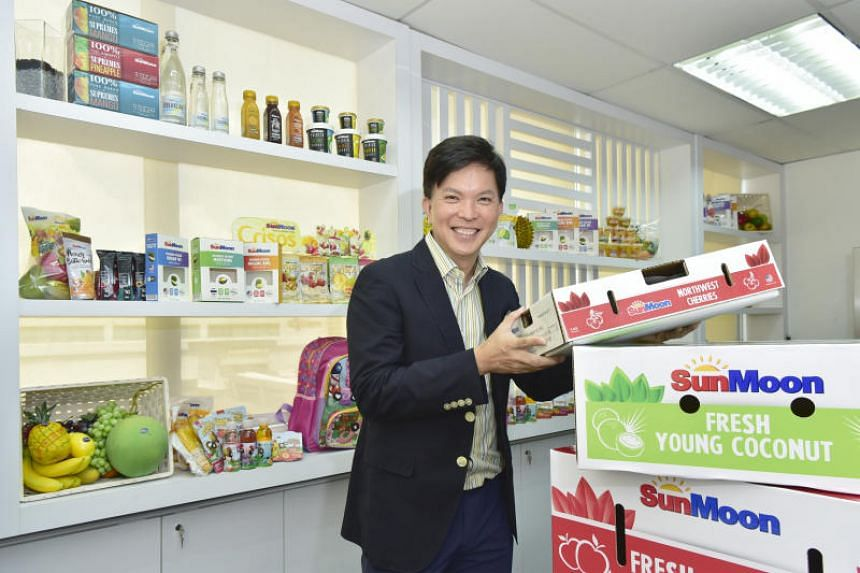 Mr Gary Loh, deputy chairman of mainboard listed SunMoon Food Company,a  supplier of fruit products and fresh fruits.