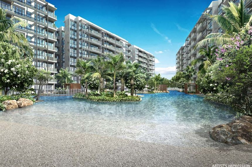 The simulated beach at The Jovell. PHOTO: TRIPARTITE DEVELOPERS PTE LTD