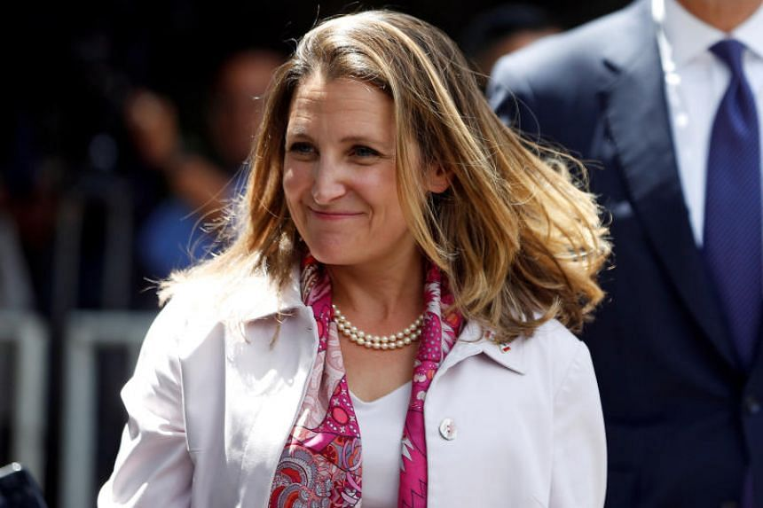 Canada's Foreign Minister Chrystia Freeland in Mexico City on July 25, 2018.