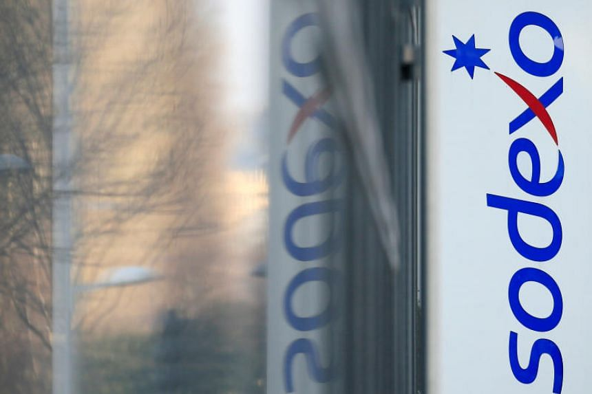 The logo of French food services and facilities management group Sodexo is seen at the company headquarters in Issy-les-Moulineaux near Paris, France, on March 18, 2016.