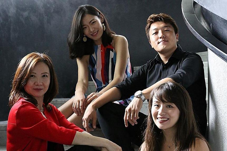 Performers include (clockwise from far left) Karen Tan (violin), Wang Dandan (viola), Wang Zihao (cello) and Chikako Sasaki (violin).