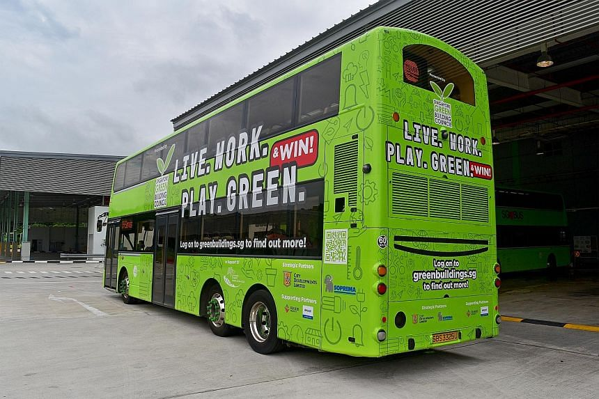 Buses will ply the roads to promote the campaign to pique the public's interest in sustainable buildings.