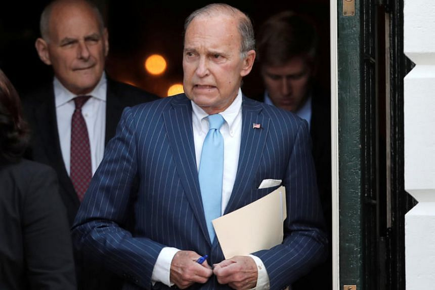 """""""China is in trouble right now - their economy is lousy, investors are walking out, the currency is falling,"""" said top White House economic adviser Larry Kudlow."""