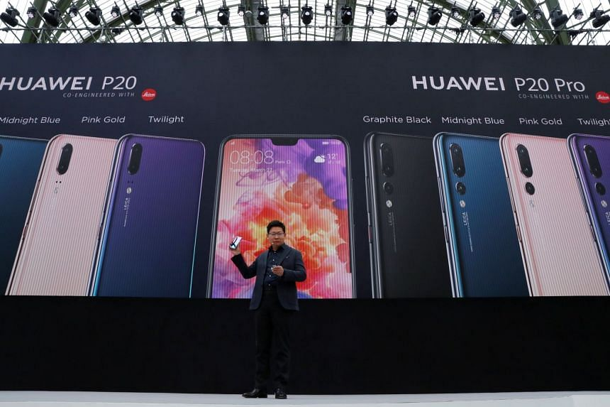 Chief executive of Huawei Consumer Business Group Richard Yu attends the launch of the Huawei P20, in Paris, France, on March 27, 2018.