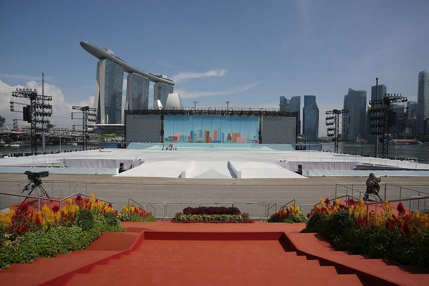 The police issued an advisory on traffic and security arrangements ahead of NDP, which will be held at The Float @ Marina Bay.
