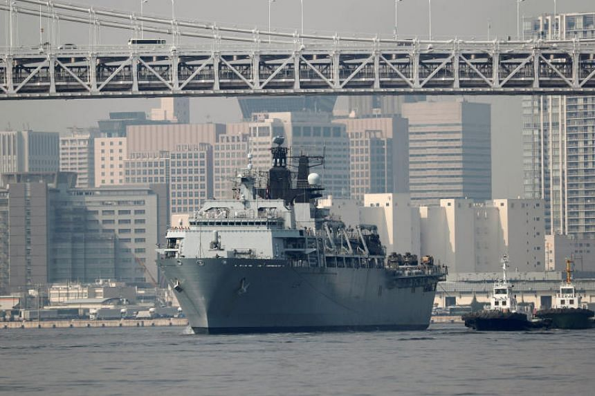 The 22,000-tonne Royal Navy fleet flagship, HMS Albion, arrived in Tokyo where it will conduct ship tours for the general public, Japanese officials, and defence industry executives.