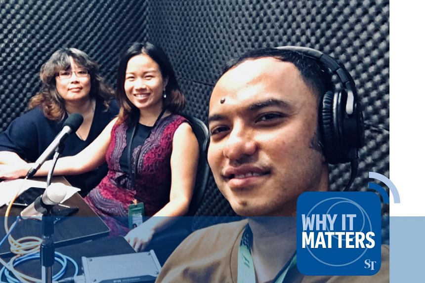 The Straits Times' correspondents for the private and public property market - Grace Leong (left) and Rachel Au-Yong (centre) assess with podcast host Ernest Luis (right) the impact of the latest cooling measures.