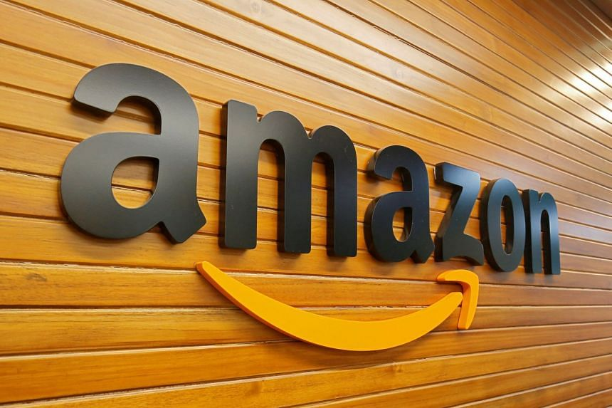 """File photo showing the Bengaluru office of Amazon, which says that """"tens of thousands of customers"""" in India use its AWS cloud service platform."""