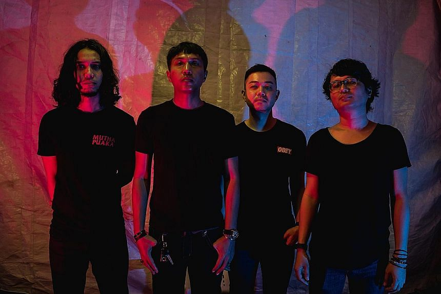 Force Vomit are made up of (from far left) Redzuan Hussin, Fazli Mohamed Adwel, Alvin Wong and Eddino Abdul Hadi.
