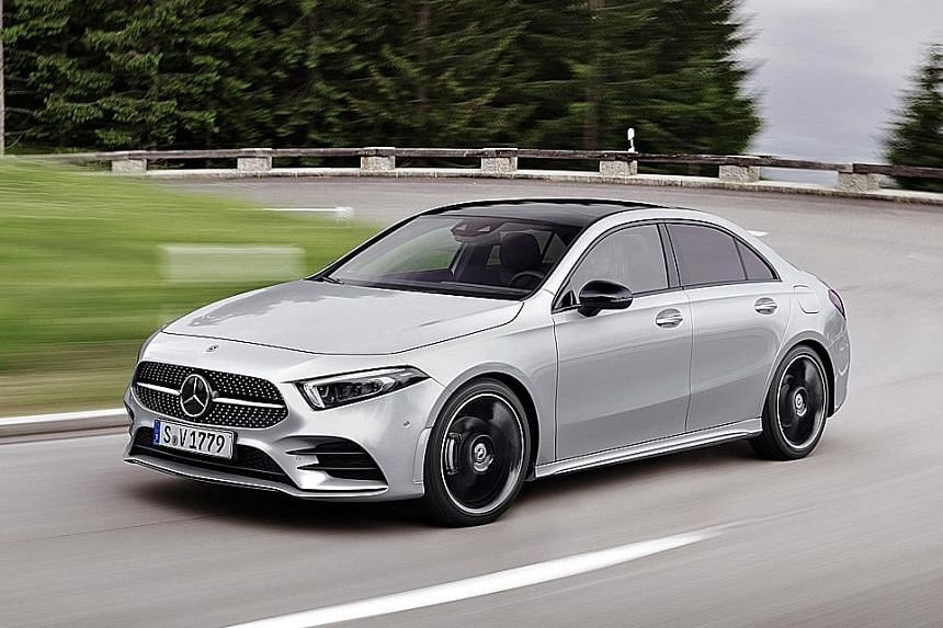 Mercedes-Benz will bring in its Aclass Saloon next year.