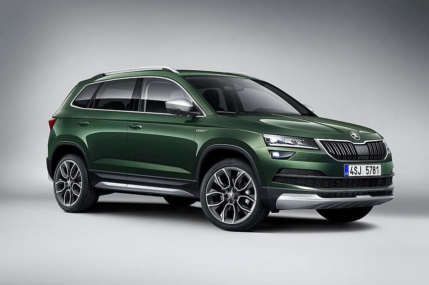 Skoda will unveil its Karoq Scout.