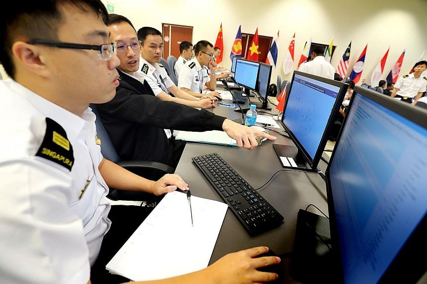 The first Asean-China Maritime Exercise, a two-day table-top exercise which did not involve actual drills, was hosted by the Republic of Singapore Navy at the base's Multinational Operations and Exercises Centre.