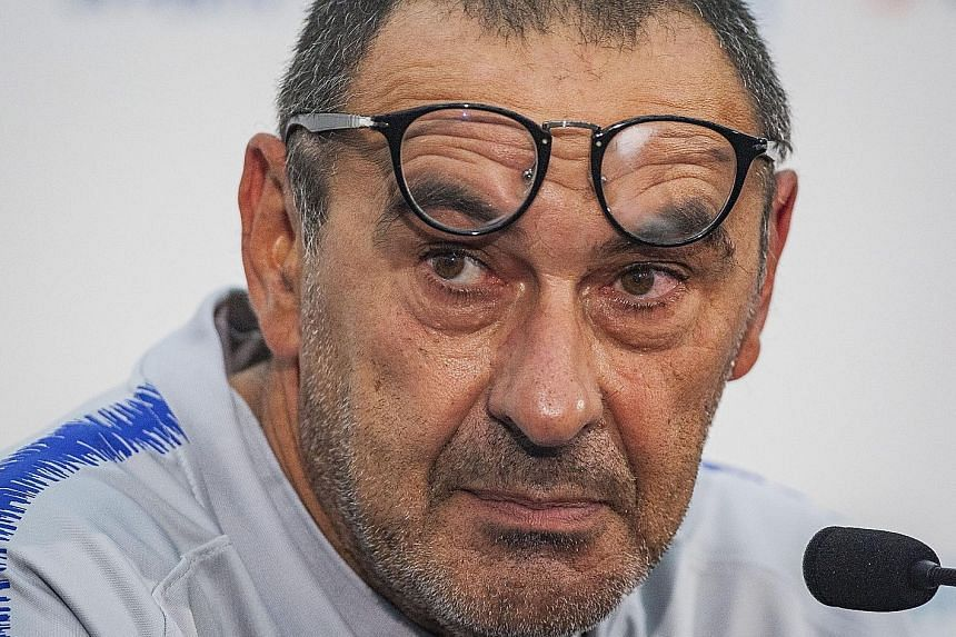 The philosophy of new Chelsea manager Maurizio Sarri (above) has more in common with Manchester City counterpart Pep Guardiola than his predecessor Antonio Conte.