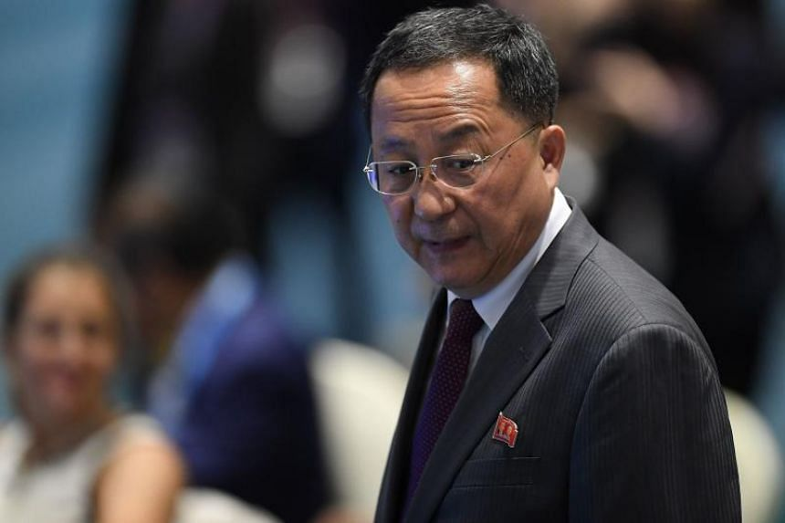 Mr Ri Yong Ho charged that the US has not focused on confidence building and has instead been growing increasingly strident on maintaining sanctions and moving away from declaring the end of war.