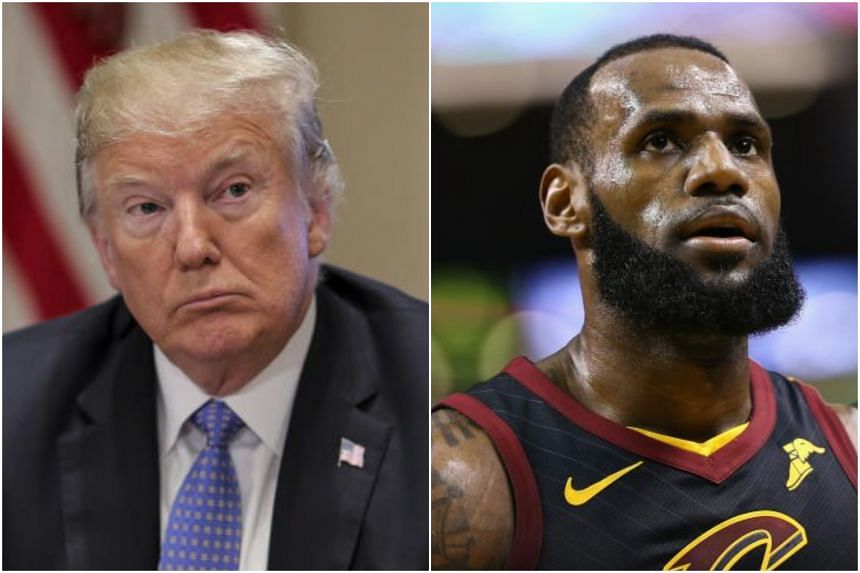 NBA great LeBron James (right) was sniped back by US President Donald Trump after he accused the president of stoking racial divides in the United States.