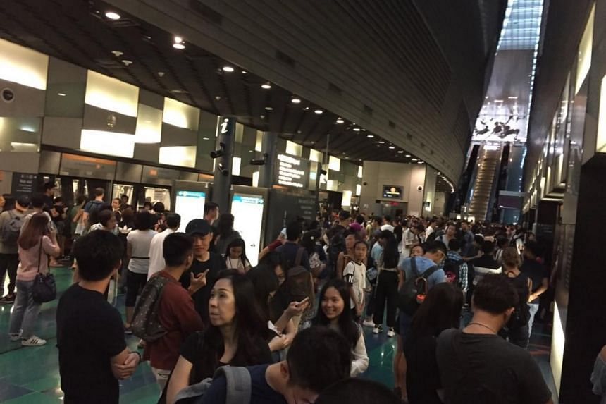 SMRT added that free regular bus services would continue to be available between Bartley and Stadium (pictured) stations until 7.30pm.