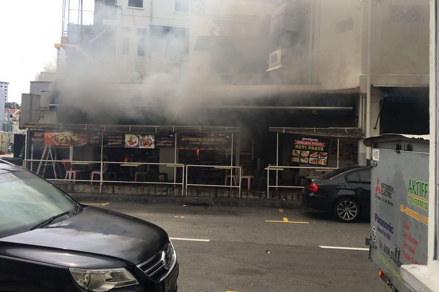 Mr William Lim said he was using the bathroom in the Neil Road coffee shop at around 12pm when he heard a loud bang.