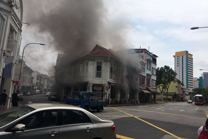 The fire was put out by 12.30pm, said SCDF.
