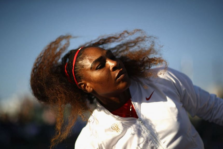 Williams ahead of her match against Britain's Johanna Konta at the Mubadala Silicon Valley Classic in San Jose, California.