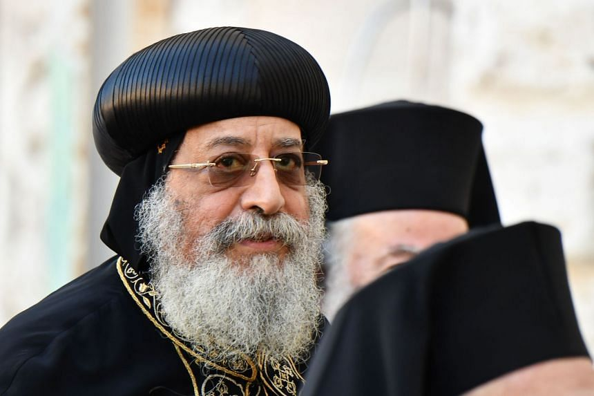 """Tawadros (above) said that using social media is a """"waste of time, age and life""""."""