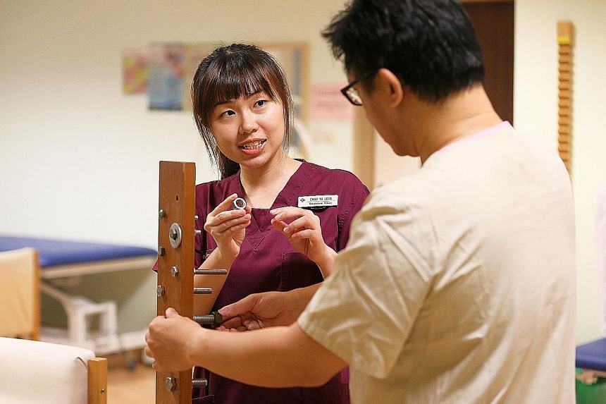 Occupational therapist Chan Yu Leng works with stroke patients to help them get back to their normal lives.