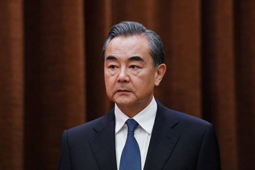 China's Foreign Minister Wang Yi attending a meeting at the Foreign Ministry in Beijing, China, on June 21, 2018.