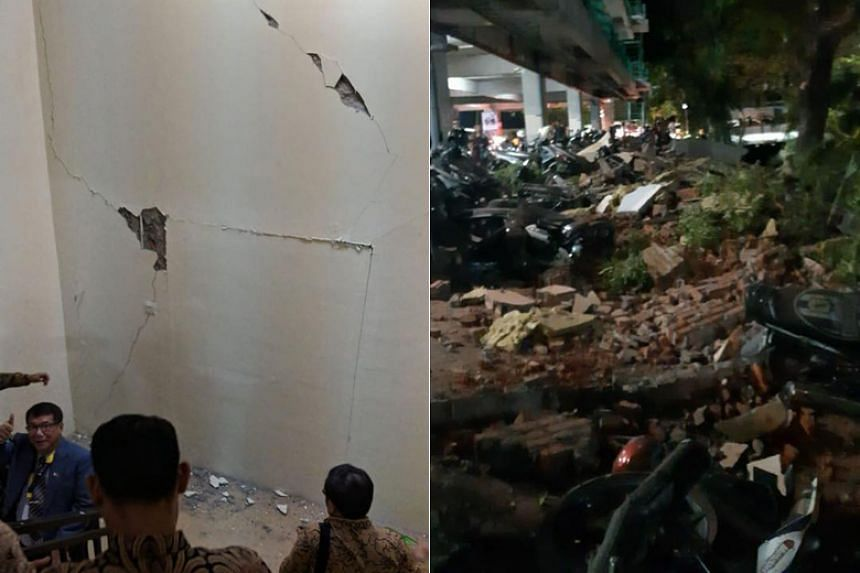 Law and Home Affairs Minister K. Shanmugam said that he was working on his laptop in his room on the 10th floor of a building when the quake struck.