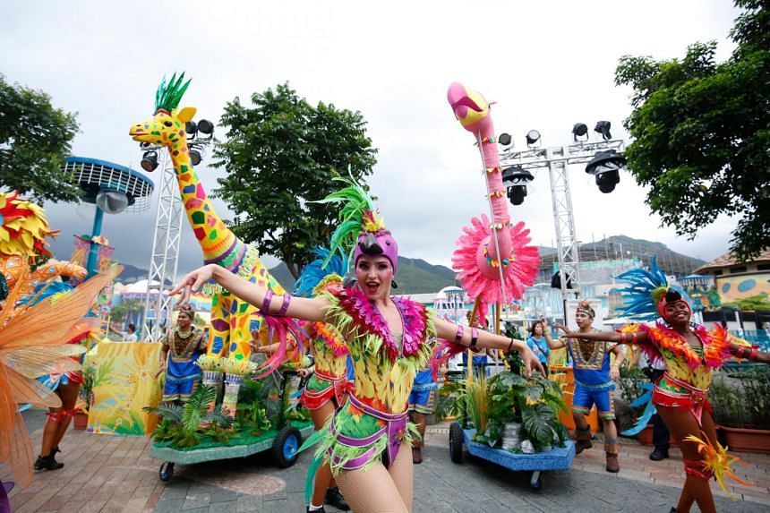 The Summer Carnimal at Ocean Park Hong Kong features Caribbean and South American cultural shows.