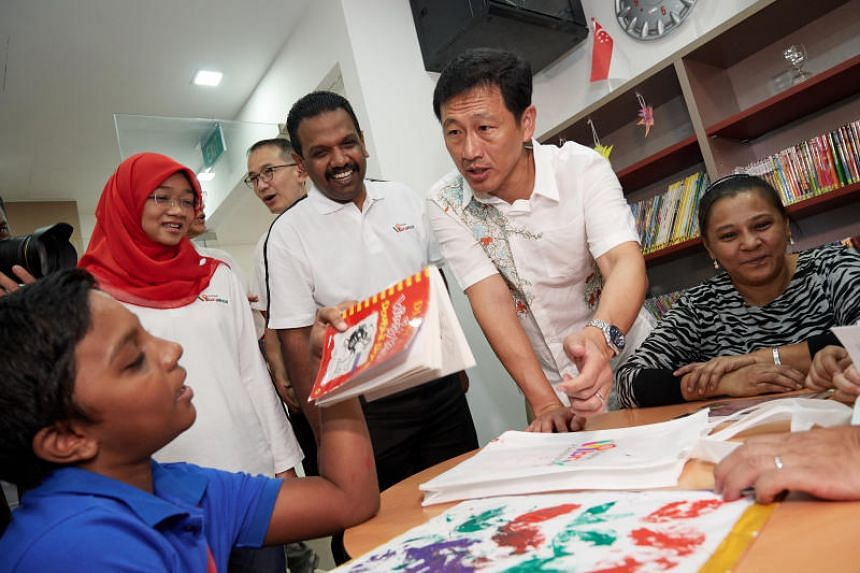 Education Minister Ong Ye Kung at the launch Vibrance @ Yishun, a self-help group centre, on Aug 5, 2018.