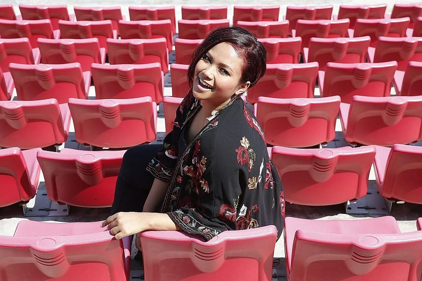 Actress Nadiah M. Din, who will be the NDP show's emcee, was afraid her hosting skills would be rusty after taking a break during her pregnancy, but is now back in tip-top shape and looking forward to presenting the show in front of the first female