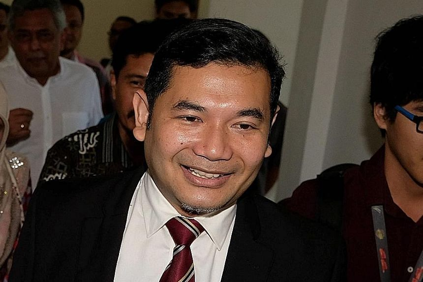 The nomination form which shows Datuk Seri Anwar Ibrahim was nominated as PKR president by his wife and incumbent president Wan Azizah Wan Ismail. Datuk Seri Mohamed Azmin Ali (above left) and Mr Rafizi Ramli are running for PKR deputy president.