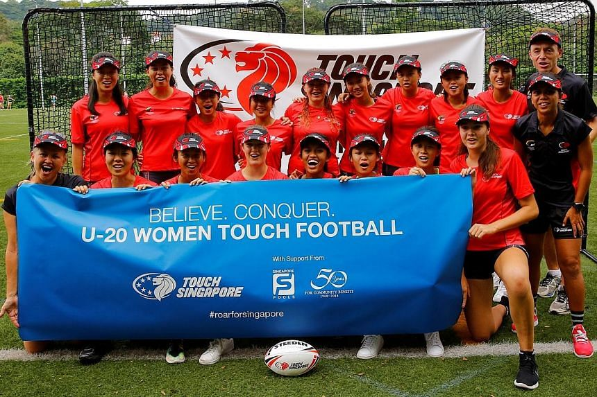 The women's Under-20 touch football team will represent Singapore at this week's Youth Touch World Cup in Malaysia.