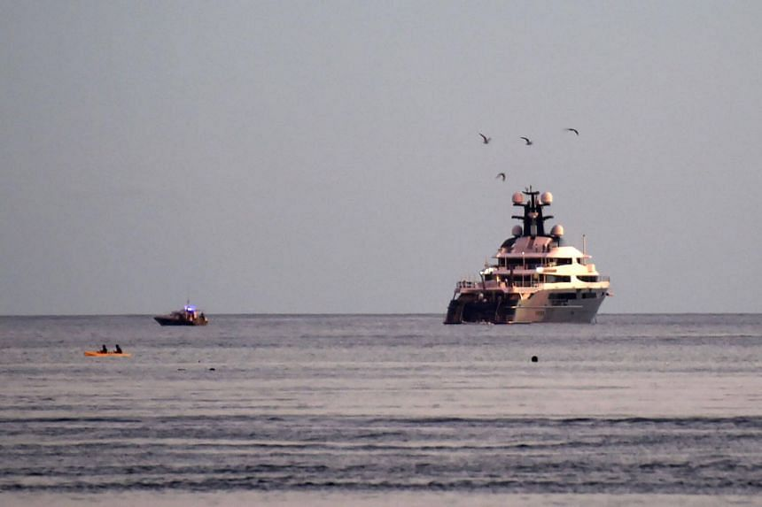 Equanimity Superyacht Equanimity is seen off the shore of Banoa, on the resort island of Bali, Indonesia, on Feb 28, 2018.