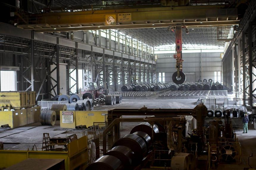 File photo showing workers at a Nucor steel plant. 639 of the 20,000 requests by steel companies for tariff exemptions has been denied by the Commerce Department in the US.