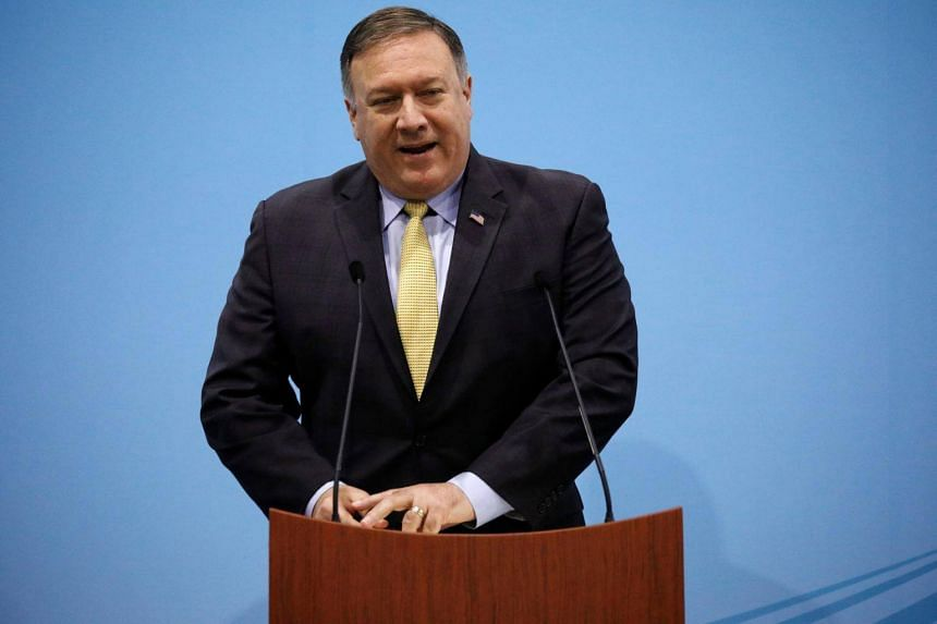 """US Secretary of State Mike Pompeo told journalists that heaping pressure on Teheran was meant to """"push back against Iranian malign activity""""."""