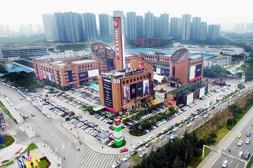 Sasseur Reit's outlet mall in Chongqing, where sales have continued to outperform the forecast as a more mature mall.